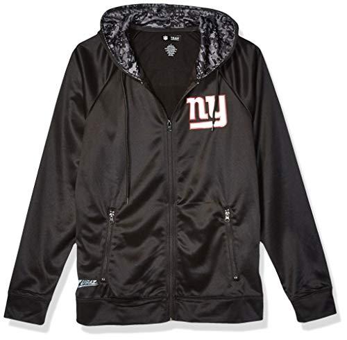 NFL New York Giants Men's Full Zip Hoodie, Black, Large
