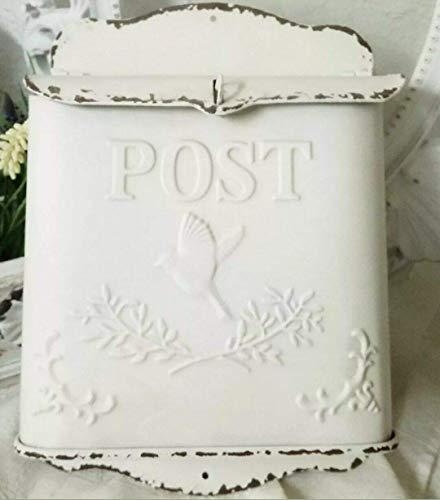 Briefkasten Post Creme shabby Vogel Postkasten Vintage Landhaus