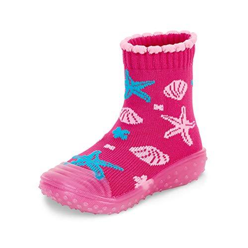 Sterntaler Baby - Mädchen Adventure-Socks, Socke mit Gummisohle, Wasserschuh, Größe: 23/24, Magenta