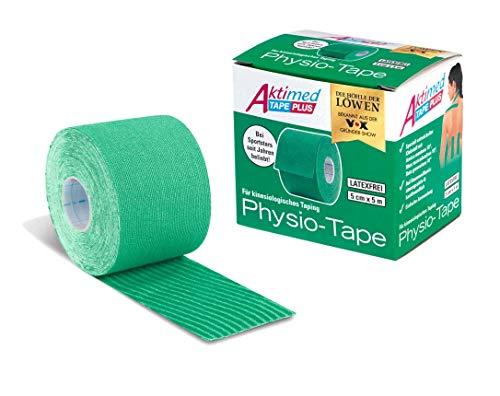 Aktimed Tape Plus 2 in 1 - Sport Kinesiologie Tape mit integrierten pflanzlichen Extrakten | Patentiertes 2 in 1 Physio Tape, Designed in Deutschland [Grün]