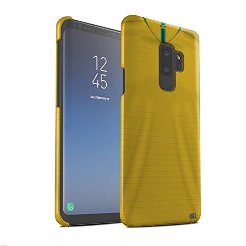 Stuff4 Matte Snap-On Hülle/Case für Samsung Galaxy S9 Plus/G965 / Brasilien/Brasilianer Muster/Weltmeisterschaft 2018 Fußball Trikot Kollektion