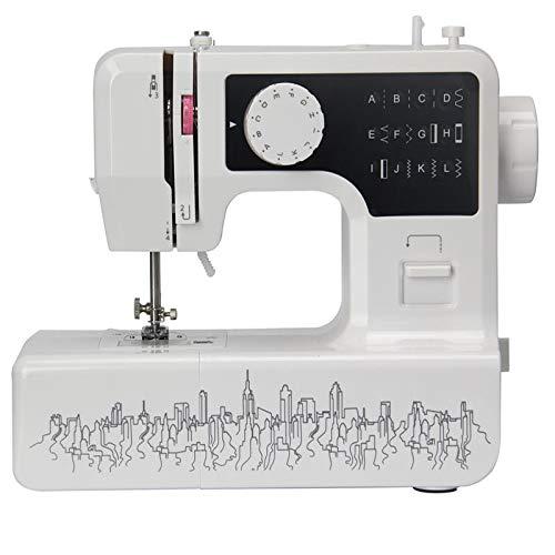 LXVY Multifunción De Escritorio De La Máquina De Coser Eléctrica, De Uso Doméstico Gruesa Máquina De Coser Costura De Ojal, con El Pedal, La Herramienta De Coser, Una Función De 12 Puntos De Sutura,C