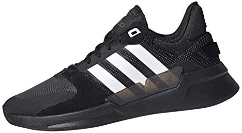 adidas Herren Run90s Laufschuhe, Schwarz (Core Black/FTWR White/Grey Six), 46 EU