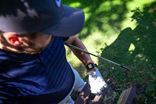 Image of Golfer wearing the Garmin Approach S10, the best golf watch for the money.