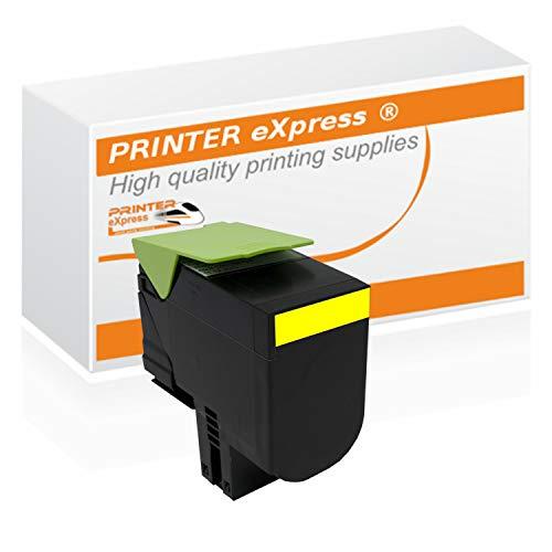 Printer-eXpress Toner ersetzt Lexmark 71B20Y0 für CS317 CS317DN CS417 CS417DN CS517 CS417DE CX317 CX317DN CX417 CX417DN CX517 CX417DE gelb