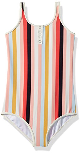 Billabong Girls' Little Come On by One Piece Swimsuit, Multi, 4