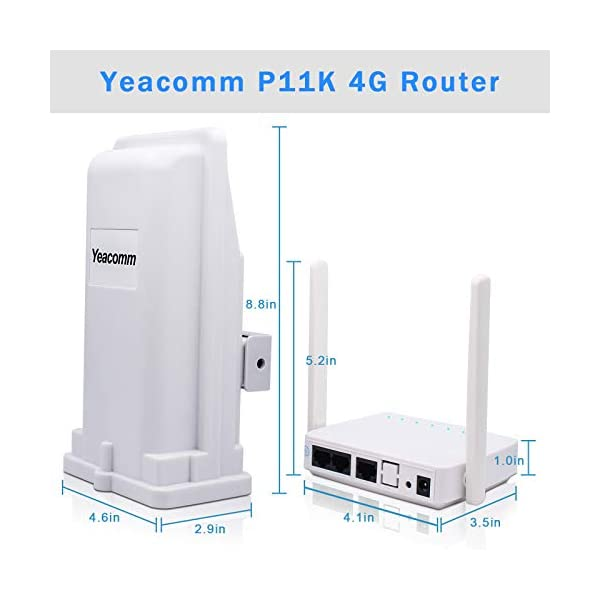 4G Outdoor CPE WiFi Router, Yeacomm 3G 4G LTE CPE Kit | LTE Unit with Sim Card Slot + WiFi Hotspot, 150Mbps CAT4 Mobile…
