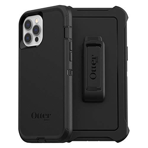 OtterBox Defender Series, Rugged Protection for Apple iPhone 12 Pro Max - Black - Non-Retail Packaging