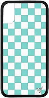 Wildflower Limited Edition iPhone Case for iPhone X and XS (Blue Checkers)