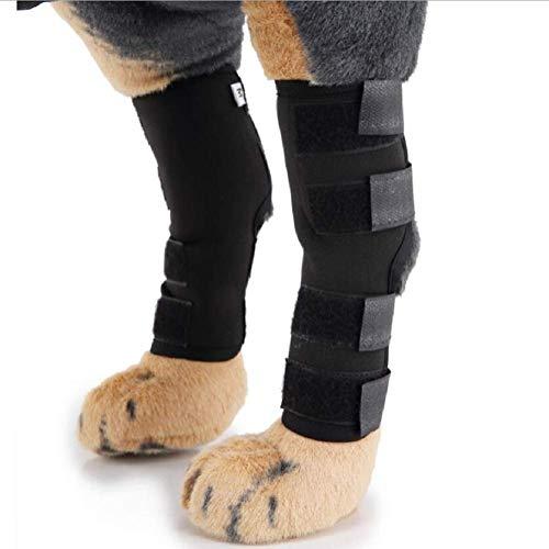 lineEUbea Huisdier baby levering huisdier knie pads hond leggings guard hond benen huisdier beschermer hond chirurgie gewonde schede, S Black
