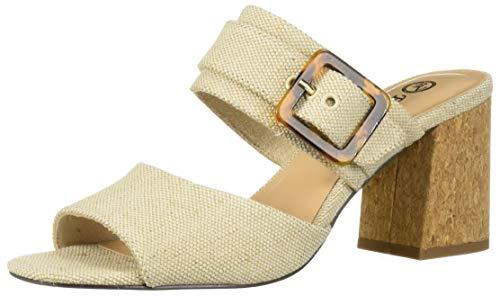 Bella Vita Women's Tory II Dress Sandal Shoe, Natural Linen, 9 2W US