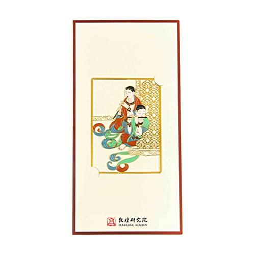 ZHOUSAN Segnalibro in metallo per musica e danza, museo, regali culturali e creativi, stile classico, artistico, cinese, regalo di compleanno, Dunhuang