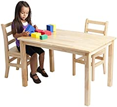 ECR4Kids - ELR-068 Deluxe Hardwood Activity Play Table for Kids, Solid Wood Childrens Table for Playroom/Daycare/Preschool, 30 x 48 Inch Rectangle, Natural Finish