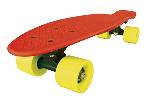 Streetsurfing Skateboard New Fizz Board, Red/Yellow, 500205