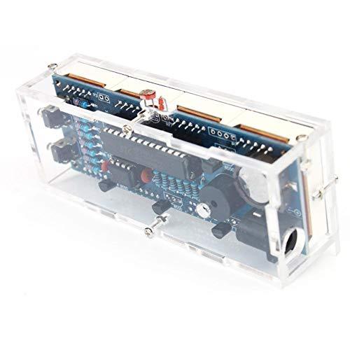 Aukson 4-stelliges DIY Digital LED Clock Kit, automatische Anzeige von Uhrzeit, Temperatur und Datum, Alarmfunktion und Timerfunktion Mit dem Netzkabel(Green)