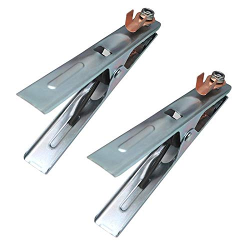 jidan Welding Clamps Welding Clamp 2Pcs/set 300A Metal Ground Cable Clip Electrode Holder Welder Earth Cable Clamp