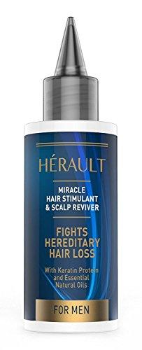 Stimulant pour cheveux et cuir chevelu - meilleur traitement anti-chute/renforce les cheveux/stimule le cuir chevelu - kératine/huiles essentielles - homme - 50 ml