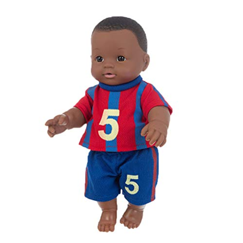 Fishoneion Reborn Baby Doll, 12 Inch Reborn Black Baby Girl, Silicone Vinyl Realistic Reborn Baby Dolls Newborn for Age 3+ (Boy B)