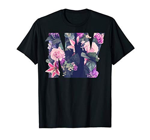 Floral New York City Graphic T Shirts, Urban New York City T-Shirt