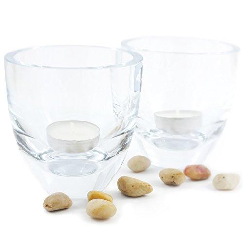 Leonardo Tavola Tischlicht 2er Set Glas | Teelichtgläser als Dekoration, Windlicht, Teelicht, Teelichthalter für den Esstisch als Kerzen Deko Accessoire