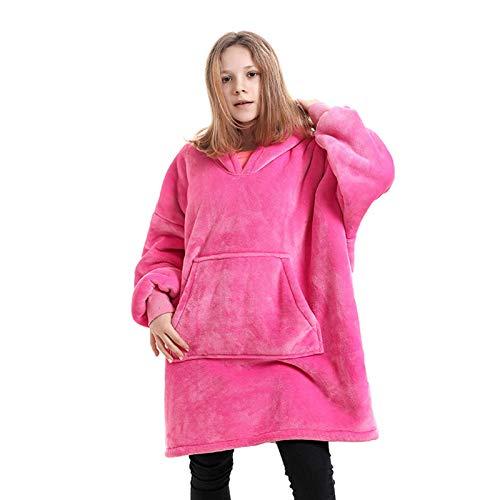 Manta Sudadera con Capucha, Suave y Acogedora Sweatshirt con Capucha, 1 tamaño para Adolescentes,Red 3,One