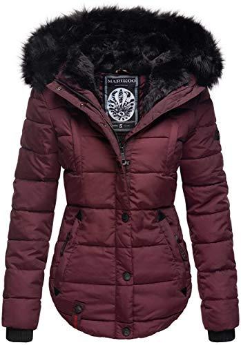 Marikoo warme dames winter jas winterjas gewatteerde nep bont B618