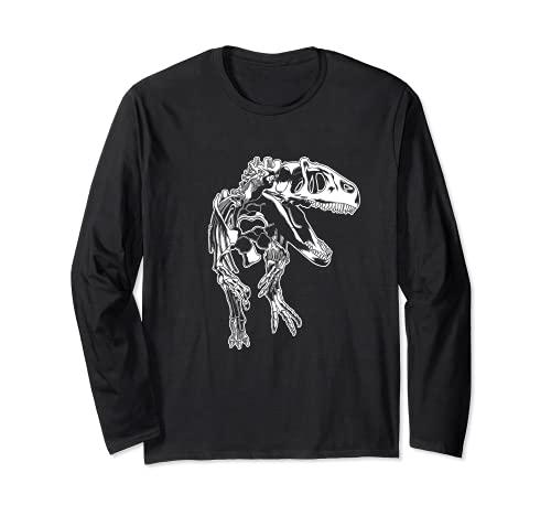 T-Rex - Disfraz de dinosaurio de esqueleto para Halloween, Tyrannosaurus Rex Manga Larga