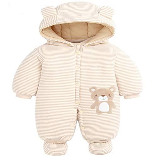 GGYYY Saco de Dormir del bebé de los niños de Manga Larga de Split Pierna Invierno Espesado Anti Kick Body Cubierta de trepar Traje a Prueba de Viento del Sombrero,Cartoon bear-73