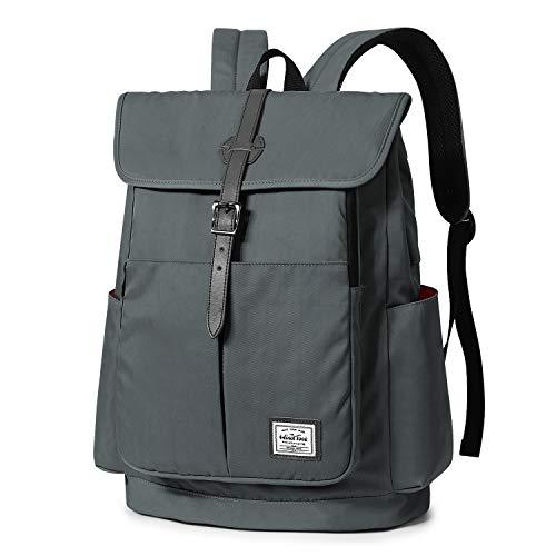 WindTook 15,6 Zoll Laptop Rucksack Backpack Daypack Schulrucksack Notebook Damen Herren mit USB Anschluss für Uni Arbeit Campus Freizeit, 31 x 16 x 41 cm, Grau