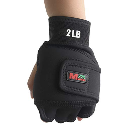 KOET Weighted Gloves 4lb(2lb Each), Fitness Soft Iron Gloves Sandbag Weight Bearing Training Gloves with Wrist Support for Gym Boxing, Cross Training(4lb)