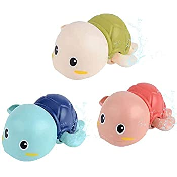 Baby Bath Toys Wind up Swimming Turtle Toys for Toddlers Floating Water Bathtub Shower Toys Bathroom Pool Play Sets Fun Bathtime Gift for Kids Infants Boys Girls  3 Pack