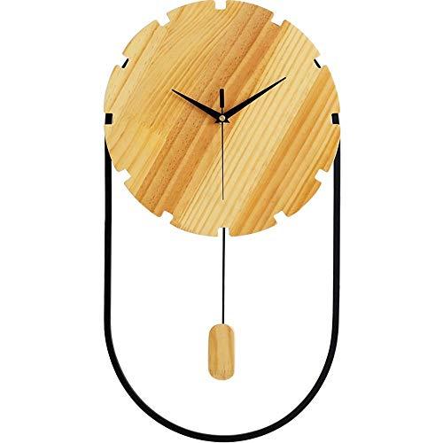 Chef Turk Mire El Reloj De Pared Creativo Nórdico Elegante Minimalista Cartas De Pared De Madera Sólida Dormitorio Moderno Reloj De Pared De Cuarzo Silencioso