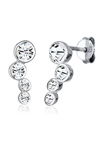 Elli Ohrringe Damen Ohrstecker mit Swarovski Kristallen Kreis in 925 Sterling Silber