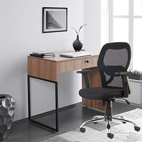CELLBELL C100 Chromium Steel Mesh Mid-Back Office Chair /Computer Chair/Desk Chair (Black)