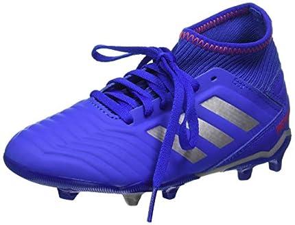 Adidas Predator 19.3 FG J, Botas de fútbol, Multicolor Azufue Plamet Rojact 000, 37.5 EU
