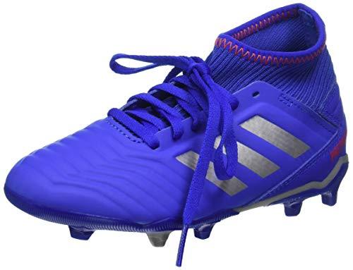 Adidas PREDATOR 19.3 FG J, Jungen Fußballschuhe, Blau (Bold Blue/Silver Metallic/Active Red 0), 37 1/3 EU