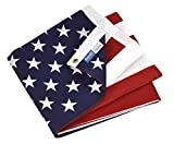 Annin Flagmakers Model 19417 Poly/Cotton American Flag, 3x5 ft, 100% Made in USA Printed Stars and Stripes with Brass Grommets