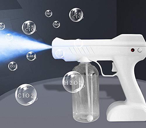 L-CAM 800ml 2600mAh inalámbrica eléctrico ULV pulverizador, de Vapor portátil de Mano de desinfección Azul Claro Nano Pistola atomizador Máquina