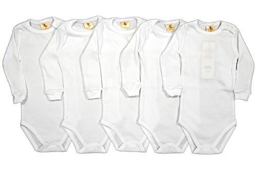 5-tlg. Set Langarm Baby Body Feinripp weiß Größe 68-104 (104)