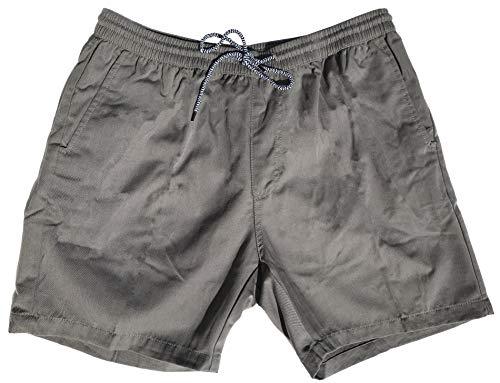 Molokai Shorts Elastic Waist Walkshorts Drawstring (Grey, Medium)