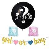 """Wifehelper 36""""Palloncini in Lattice Addensati Gender Reveal Balloon Palloncini Lucidi Kit Coriandoli per Ragazza o Ragazzo Matrimonio Compleanno Baby Shower Decorazione Natalizia(B: Girl Or Boy)"""