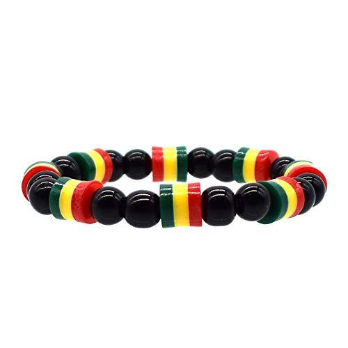Pulsera de Hombre y Mujer de Bob Marley, Rastafari, Hippie y Jamaicana Multicolor