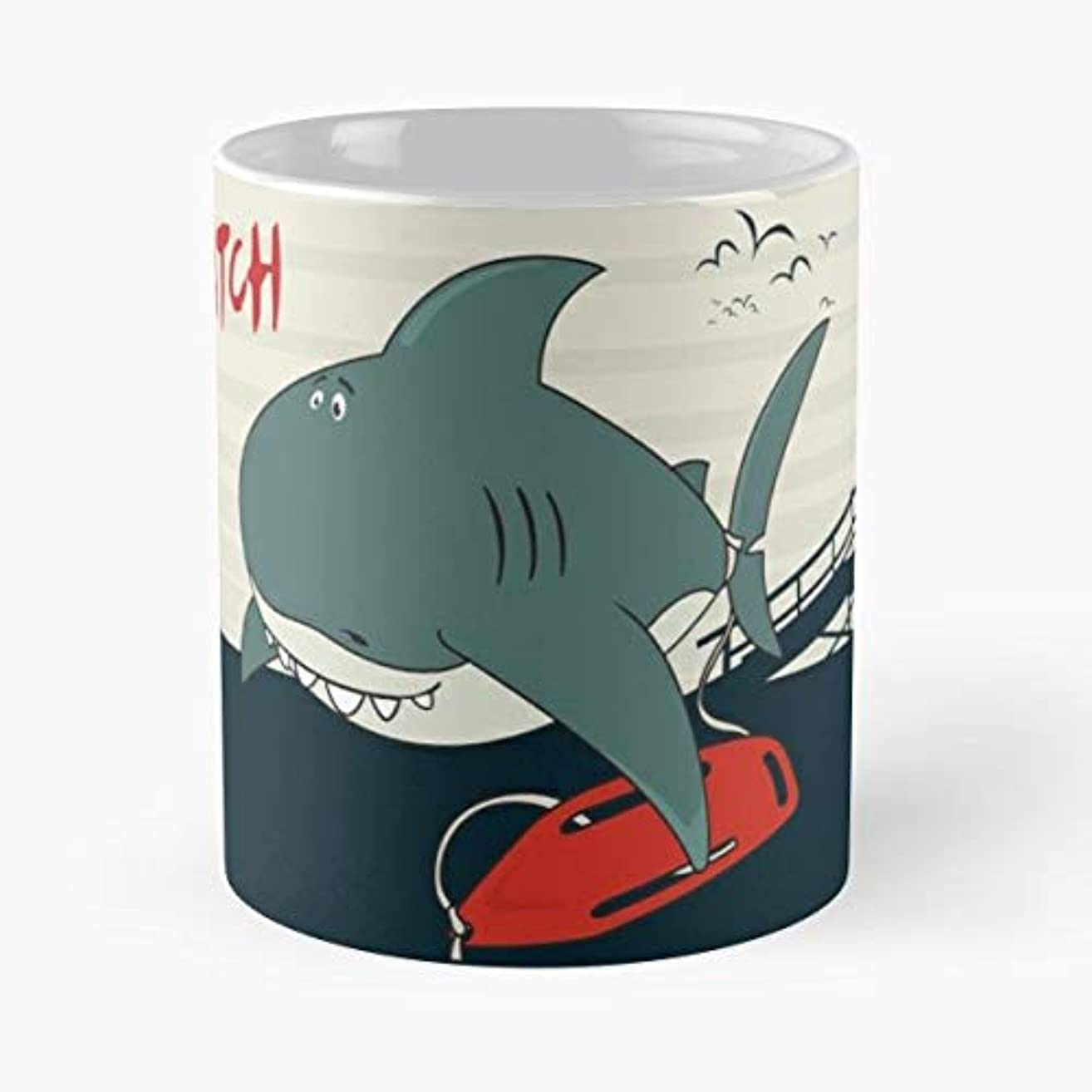Shark Fish Cartoon Teeth - Coffee Mugs Best Gift For Father Day