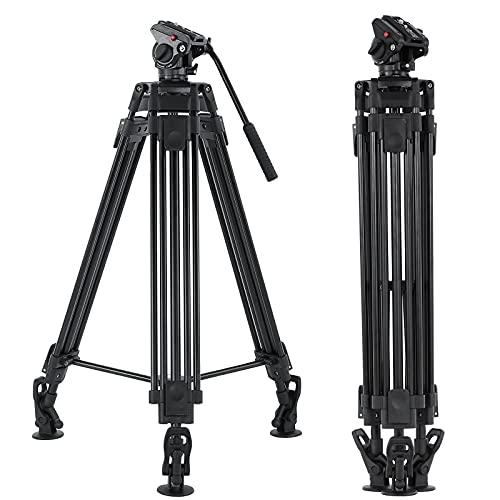 Andoer 170cm Camera Tripod, with Fluid Head 360,Tripod Video Camera...