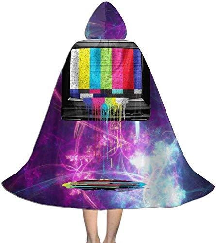 Romance-and-Beauty Capa para niños Capa con Capucha TV Retro Colores Que gotean Capa Capa para Halloween Fiesta de Navidad Disfraces de Cosplay Capas de Brujas para niños niñas