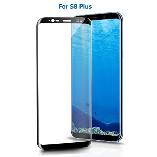 Atill Black Tempered Glass for Samsung Galaxy S8 Plus Screen Protector 3D Curved Full Coverage Ultra Clear Shatter (Black)
