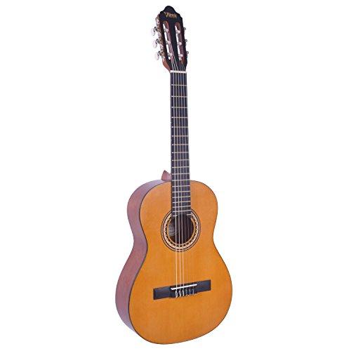 Valencia - VC203NA - Guitarra Clásica, tamaño 3/4, natural, incluye una funda