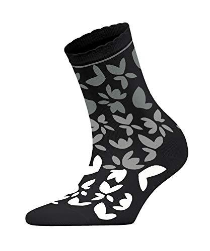 ESPRIT Damen Socken Colorful Flower - Baumwollmischung, 1 Paar, Schwarz (Black 3000), Größe: 39-42