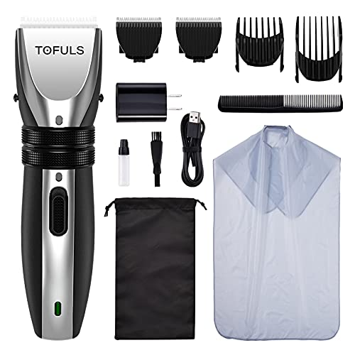 Tofuls Cordless Rechargeable Hair Clippers Kit $14.99