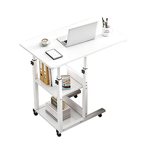 Escritorio con ruedas, carrito de escritorio para computadora portátil...